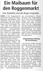 Westfälischer Anzeiger 27. April 2018