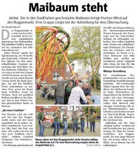 Pressebericht Ruhrnachrichten Werne vom 02. Mai 2018