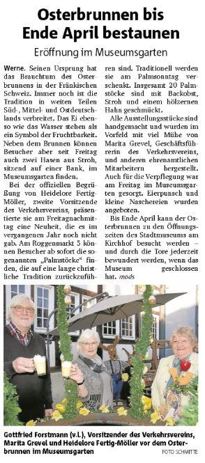 Ruhrnachrichten Ausgabe Werne 01. April 2019
